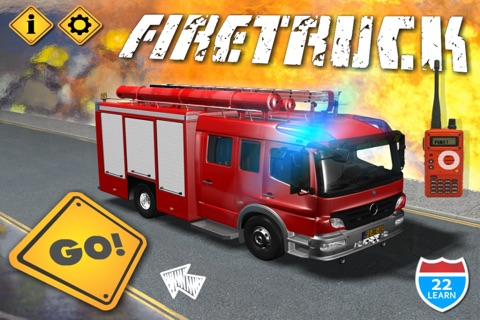 Kids Vehicles Fire Truck games screenshot 1