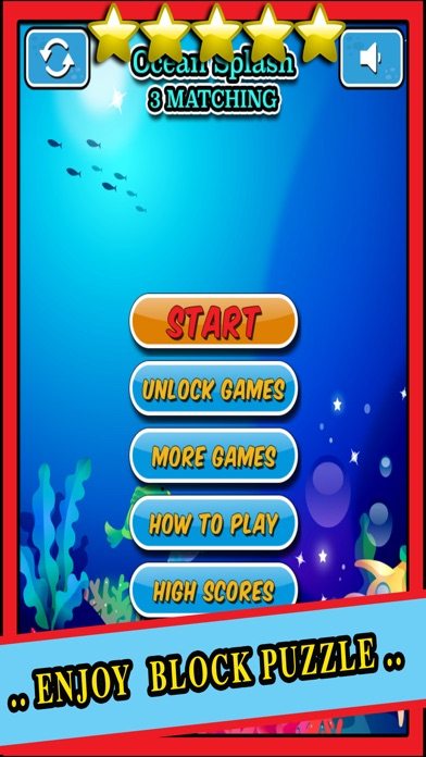Ocean Splash - 3 Matching Puzzle Game Set Under the Sea Screenshot on iOS