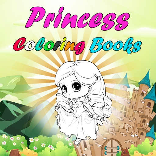 Chibi Anime Princess Coloring Learning for Kids iOS App