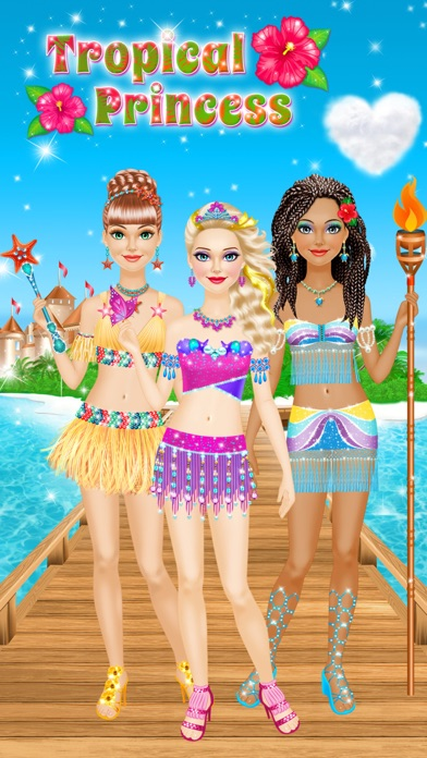 Tropical Princess - Makeup and Dressup Salon Game Screenshot 1