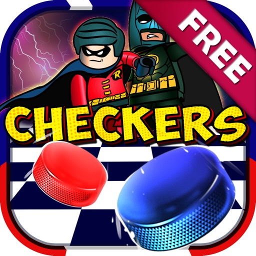 """Checkers Boards Character """"for Lego Super Heroes """" iOS App"""