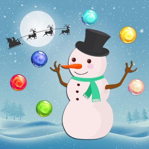 Christmas Snowman Bubble Shooter Game iOS App