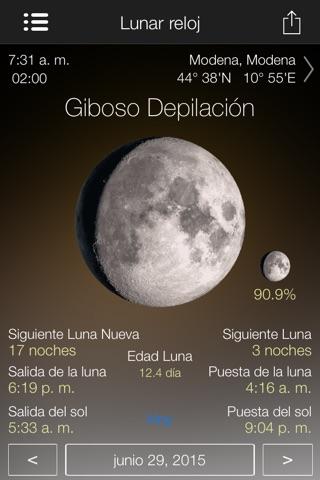 Lunar Watch moon calendar screenshot 4