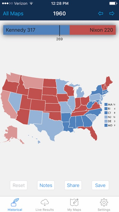 Presidential Election Electoral College Maps On The App Store - Live interactive map us election