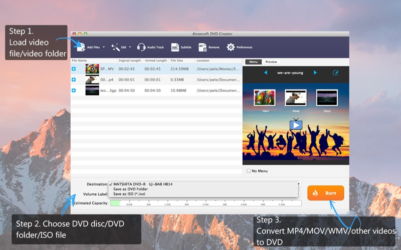Screenshot #1 for Aiseesoft DVD Creator - Burn MP4 to DVD