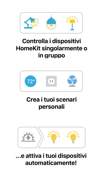 Screenshot of Devices – Comandi per HomeKit3