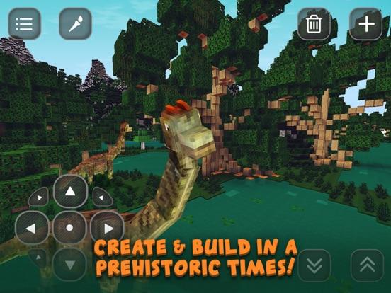Screenshots of Dino Jurassic Block Craft: Evolution & Exploration for iPad