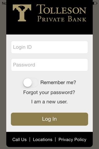 Tolleson Private Bank screenshot 1