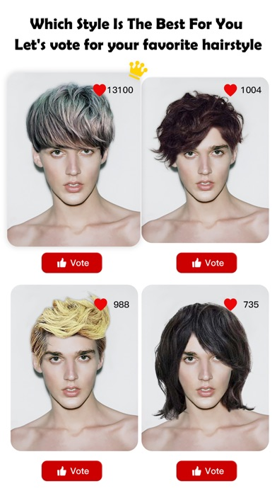 Which hair style is best for me lets vote for your new hair iphone screenshot 5 urmus Image collections