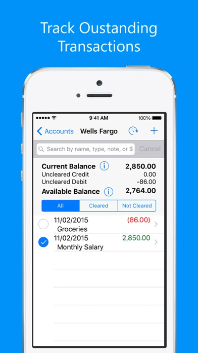 Balance My Checkbook FreeCheck Register With Sync On The App Store