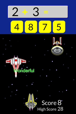 Starship Math Racing for Grades 1 to 7 screenshot 1