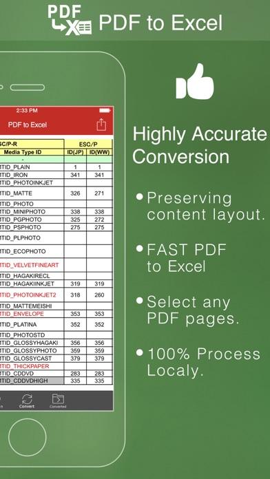 Screenshot of PDF to Excel - Convert PDF to Excel Converter2