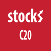 Stocks C20 index, Copenhagen stock market and portfolio