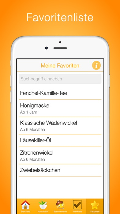 Screenshot for Hausmittel für Kinder in Germany App Store