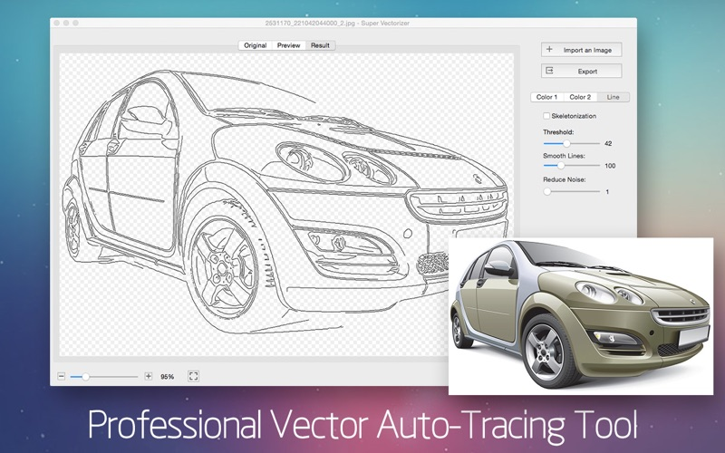 Screenshot Super Vectorizer 2 - Vector Trace Tool