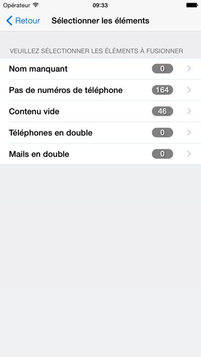 Nettoyage et suppression des doublons contactsCapture d'écran de 5