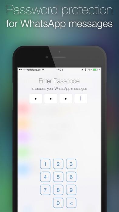 Password for WhatsApp Messages Screenshots
