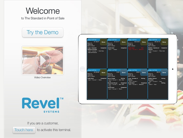 Revel Kitchen Display System by Revel Systems iPad POS