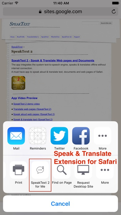 SpeakText 2 Screenshots