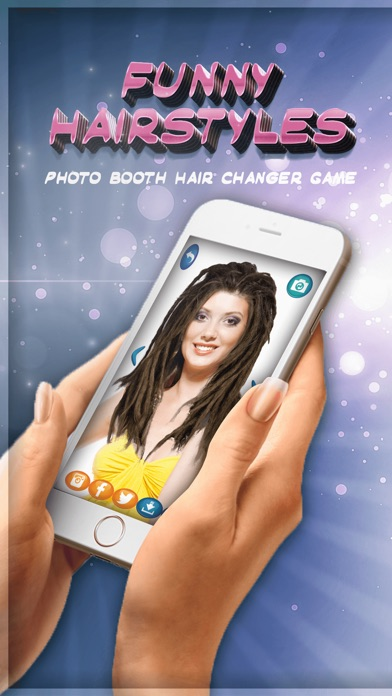 Funny Hairstyles Photo Booth Hair Changer Game-0