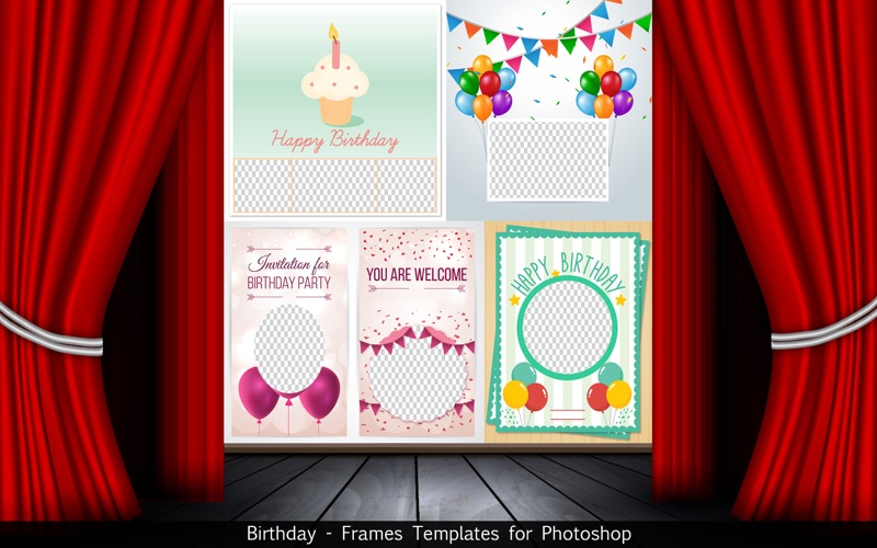 App shopper birthday frames templates for photoshop graphics whats new pronofoot35fo Choice Image