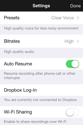 ClearRecord Pro – Noise free voice recorder screenshot 2