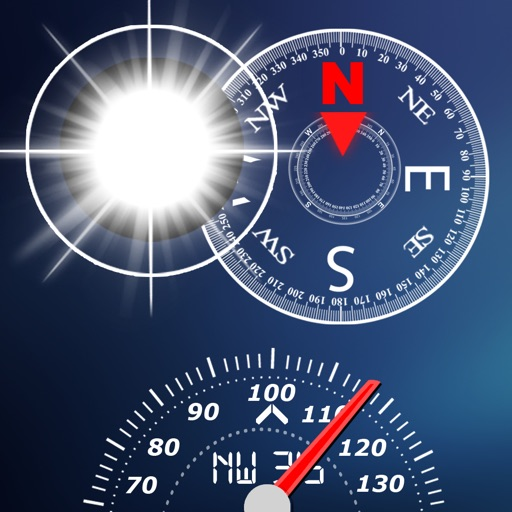 驴友工具包:Compass, Flashlight, Speedometer, Altimeter, Course