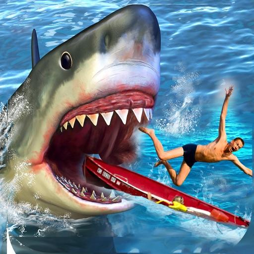 サメの攻撃シミュレータ3Dグレートホワイトフィッシュの戦い
