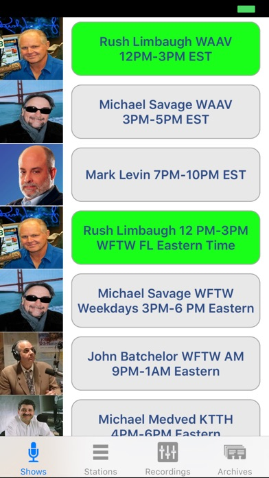 Conservative Talk Radio Live Screenshot