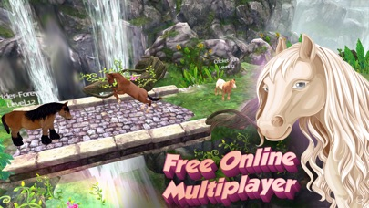 Screenshots of Horse Quest Online 3D Simulator - My Multiplayer Pony Adventure for iPhone