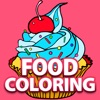 Free Fun Adult Coloring Book - FOOD: Coloring Book for Adults & Stress Relieving Color Therapy