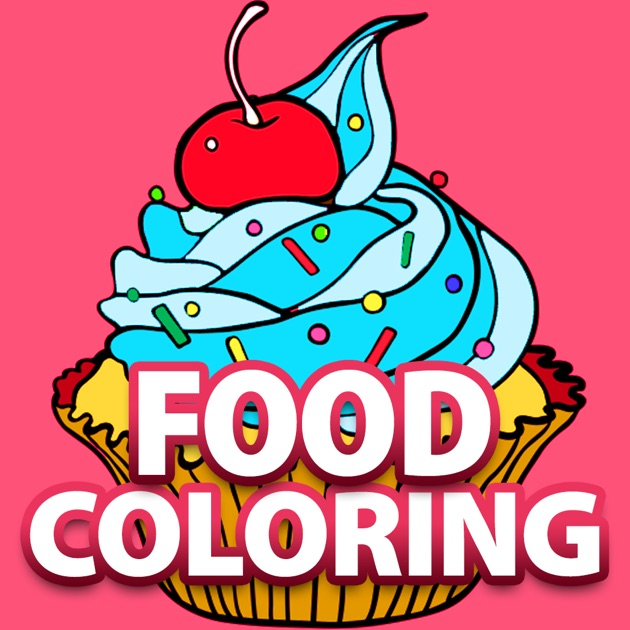Free Fun Adult Coloring Book - FOOD: Coloring Book for Adults ...