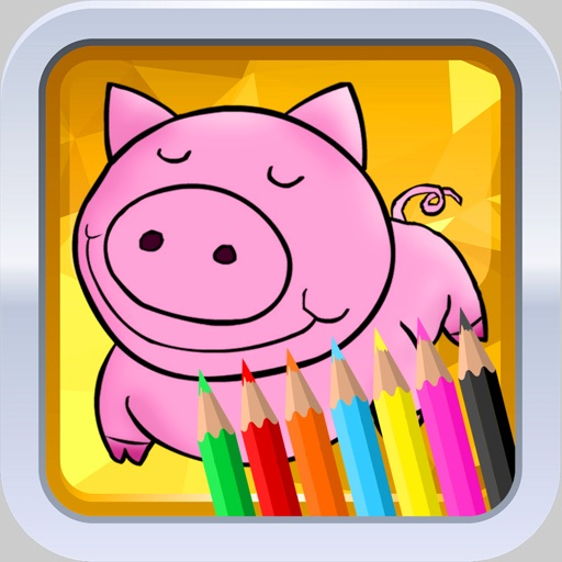 Cartoon Cute Funny Coloring Pages for Kids iOS App
