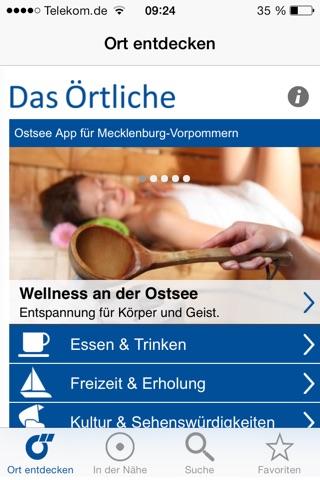 Ostsee-App von Das Örtliche – Entdecke die Ostseeküste von Mecklenburg-Vorpommern mit der kostenlosen Reiseführer App. screenshot 1