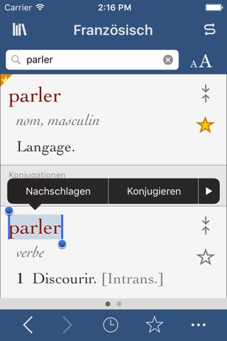 French Dictionary and Thesaurus with Verbs screenshot 1