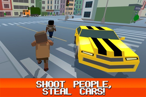Pixel City: Crime Car Theft Race 3D Full screenshot 2