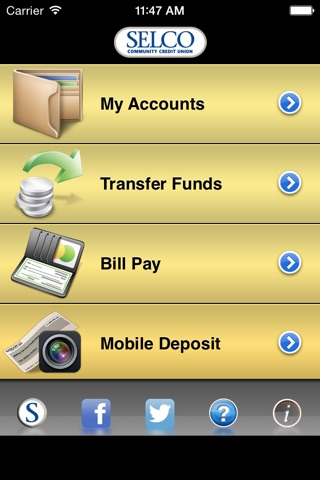 SELCO Community Credit Union Mobile screenshot 1