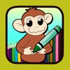 Kids paint game learn curious george version
