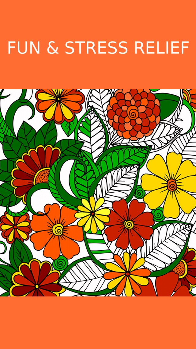 Screenshot 8 For Floral Coloring Book Adults Best Free Adult Therapy Pages