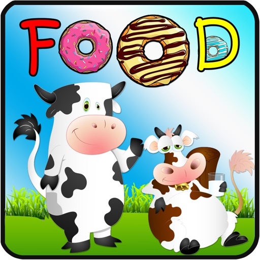 Learn English : Vocabulary - basic : free learning Education games for kids : foods : iOS App