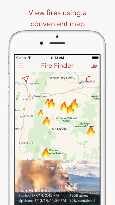 Fire Finder - Wildfire Info, Images and More Screenshot