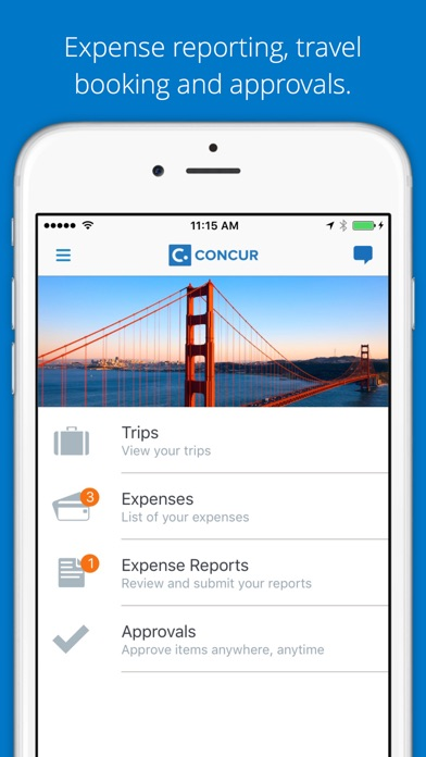 Concur  Travel Receipts Expense Reports On The App Store