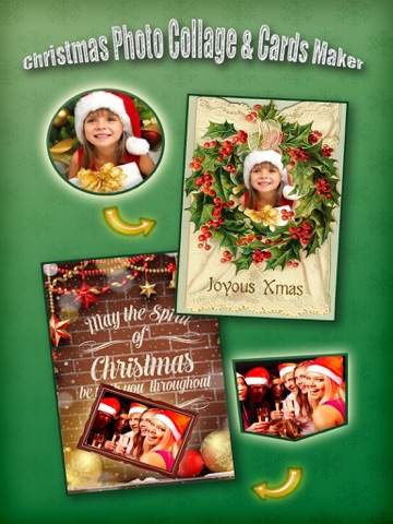 Christmas Photo Collage & Cards Maker - Mail Thank You & Send Wishes with Greeting Quotes Stickers Screenshot