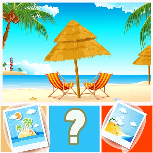 Guess the Word Quiz Guessing Beach Seaside Lovers iOS App