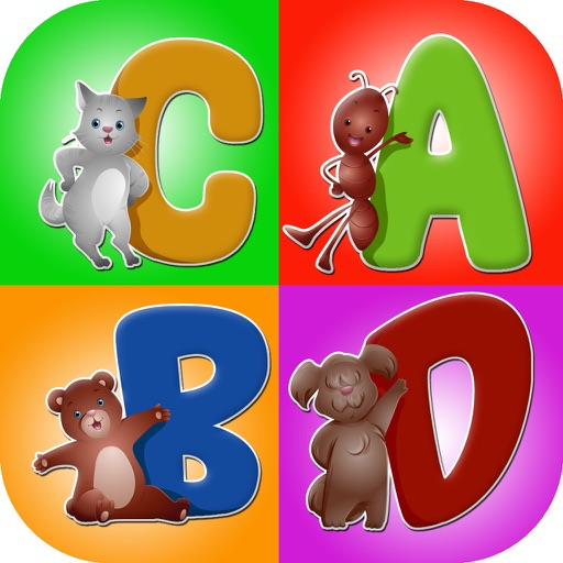 Alphabet Flashcard Match Puzzle Game For Toddlers iOS App