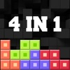 4-in-1 Blocks Game (classic brick,  1010 mania) ~ endless square & dots matching puzzle 256 free game