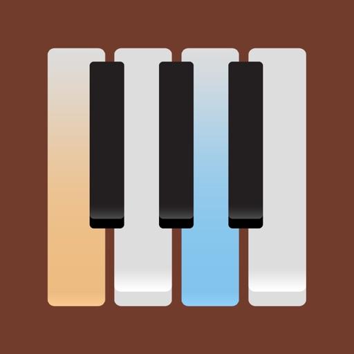 グランド・ピアノ フルサイズのキ (Grand Piano) ーボードで曲の弾き方を学ぼう。音声カスタマイズ、メトロノーム機能付