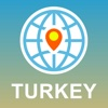 Turkey Map - Offline Map, POI, GPS, Directions central anatolia turkey map