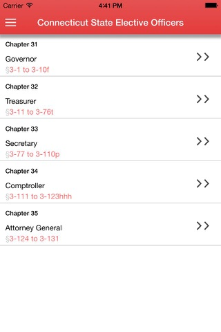 Connecticut State Elective Officers screenshot 1