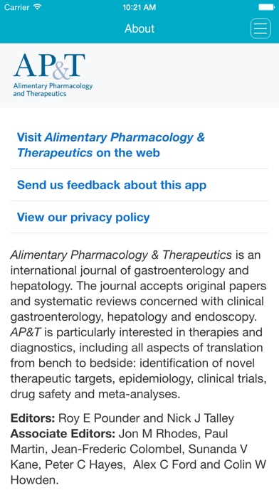 Alimentary Pharmacology & Therapeutics per Wiley